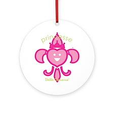 Belle Cadienne Princesse T-shirt Round Ornament