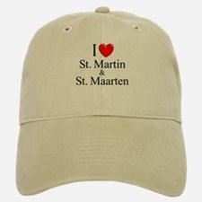 """I Love St. Martin & St. Maarten"" Baseball Baseball Cap"