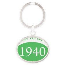born1940 Oval Keychain