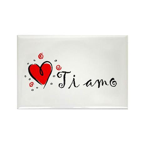 """I Love You"" [Italian] Rectangle Magnet"