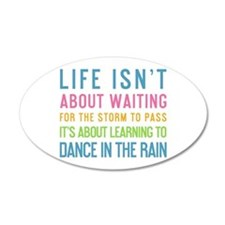 Cute Dancing in the rain Wall Decal