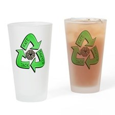 love triangle Drinking Glass