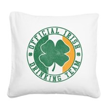 Official Irish Drinking Team Square Canvas Pillow