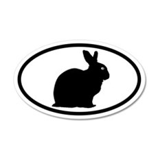 Bunny Rabbit 20x12 Oval Wall Peel