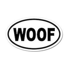 Basic Woof 20x12 Oval Wall Peel