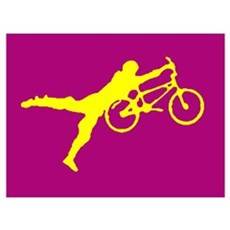 PURRPLE YELLOW BMX Framed Print