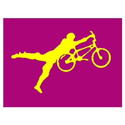 PURRPLE YELLOW BMX Poster