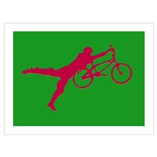 GREEN RED BMX Framed Print