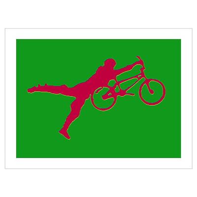 GREEN RED BMX Poster