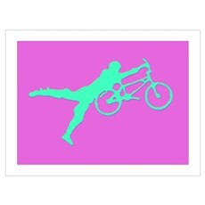 PINK GREEN BMX Framed Print