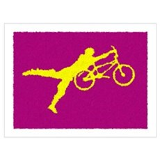 PAINTED PURPLE YELLOW BMX Framed Print