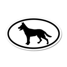 German Shepherd 20x12 Oval Wall Peel