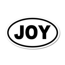 Basic JOY Oval 20x12 Oval Wall Peel