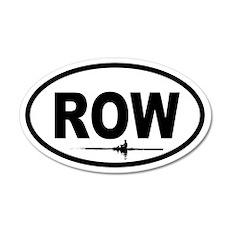Row Scull 20x12 Oval Wall Peel