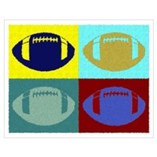 FOOTBALL QUAD PAINTED Poster