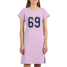 NUMBER 69 FRONT Women's Nightshirt