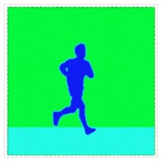 PIXEL BLUE RUNNER Poster