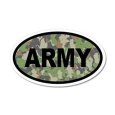 Camo ARMY 20x12 Oval Wall Peel
