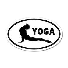 Yoga Upward Facing Dog 20x12 Oval Wall Peel