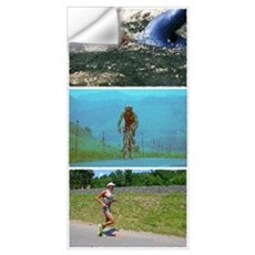 SOLO TRIATHLON TRIPTYCH PAINTING Wall Decal
