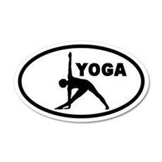 Yoga Pose 20x12 Oval Wall Peel