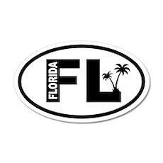 Florida Palm Trees 20x12 Oval Wall Peel