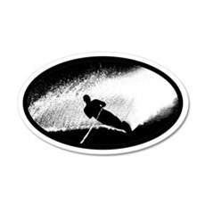 Water Skiing 20x12 Oval Wall Peel