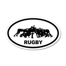 Rugby Scrum 20x12 Oval Wall Peel