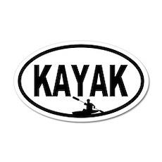 Kayaker 20x12 Oval Wall Peel