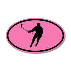 WOMEN'S HOCKEY Player 20x12 Oval Wall Peel