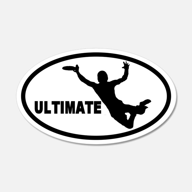Ultimate Frisbee 20x12 Oval Wall Peel