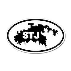 St. John's STJ Map 20x12 Oval Wall Peel
