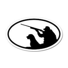 Hunter and Dog 20x12 Oval Wall Peel