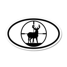 Hunting Stag 20x12 Oval Wall Peel
