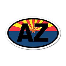 Arizona Flag 20x12 Oval Wall Peel