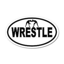 Wrestling Wrestlers 35x21 Oval Wall Peel