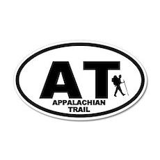 Appalachian Trail Hiker 20x12 Oval Wall Peel