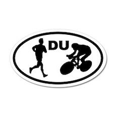 Duathlon Duathletes 20x12 Oval Wall Peel