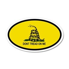 Don't Tread On Me 20x12 Oval Wall Peel