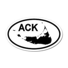 ACK Nantucket Map 20x12 Oval Wall Peel