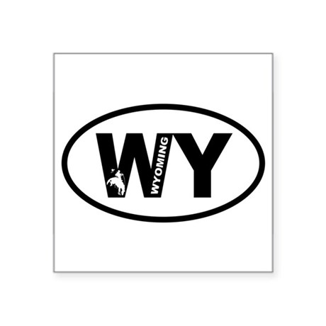 Wyoming Bronco Oval Sticker