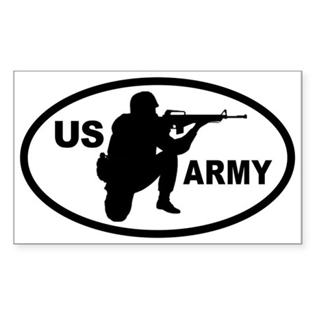 US ARMY Soldier Oval Sticker