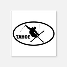 Tahoe Skier Oval Sticker
