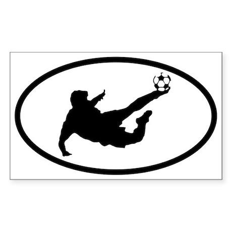 Soccer Player Oval Sticker