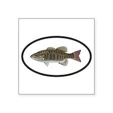 Smallmouth Bass Fishing Oval Sticker