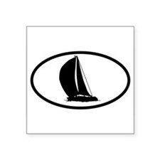 Sailboat Oval Sticker
