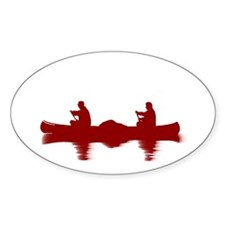 RED CANOE Rectangle Decal