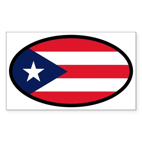 Puerto Rican Flag Oval Sticker
