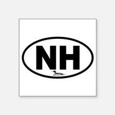 New Hampshire Loon Oval Sticker