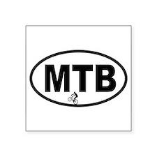 Mountain Biking Oval Sticker